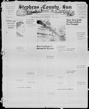 Primary view of object titled 'Stephens County Sun (Breckenridge, Tex.), Vol. 10, No. 23, Ed. 1, Thursday, January 18, 1940'.