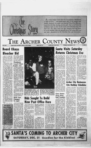 Primary view of object titled 'The Archer County News (Archer City, Tex.), Vol. 57TH YEAR, No. 50, Ed. 1 Thursday, December 19, 1974'.