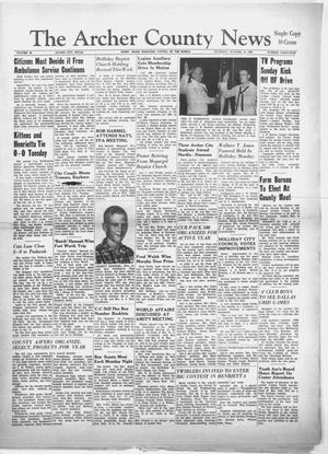 Primary view of object titled 'The Archer County News (Archer City, Tex.), Vol. 46, No. 45, Ed. 1 Thursday, October 13, 1960'.