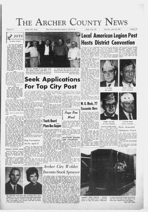 Primary view of object titled 'The Archer County News (Archer City, Tex.), Vol. 49, No. 16, Ed. 1 Thursday, April 18, 1963'.