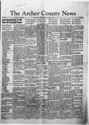 Primary view of object titled 'The Archer County News (Archer City, Tex.), Vol. 39, No. 51, Ed. 1 Thursday, December 10, 1953'.