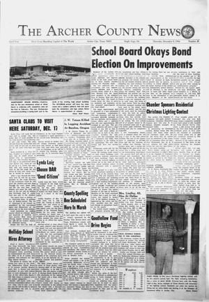 Primary view of object titled 'The Archer County News (Archer City, Tex.), Vol. 52, No. 49, Ed. 1 Thursday, December 8, 1966'.