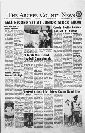 Primary view of object titled 'The Archer County News (Archer City, Tex.), Vol. 57TH YEAR, No. 45, Ed. 1 Thursday, November 14, 1974'.