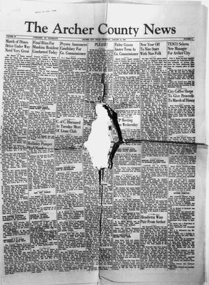 Primary view of object titled 'The Archer County News (Archer City, Tex.), Vol. 40, No. 4, Ed. 1 Thursday, January 14, 1954'.