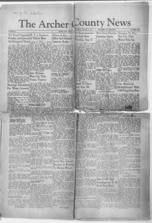 Primary view of object titled 'The Archer County News (Archer City, Tex.), Vol. 29, No. 46, Ed. 1 Thursday, August 8, 1940'.