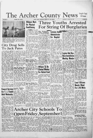 Primary view of object titled 'The Archer County News (Archer City, Tex.), Vol. 47, No. 38, Ed. 1 Thursday, August 24, 1961'.