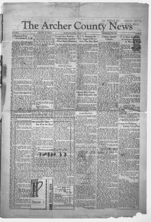 Primary view of object titled 'The Archer County News (Archer City, Tex.), Vol. 21, No. 5, Ed. 1 Monday, August 17, 1931'.