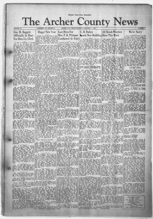Primary view of object titled 'The Archer County News (Archer City, Tex.), Vol. 34, No. 1, Ed. 1 Thursday, January 1, 1948'.