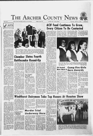 Primary view of object titled 'The Archer County News (Archer City, Tex.), Vol. 55, No. 9, Ed. 1 Thursday, March 2, 1972'.