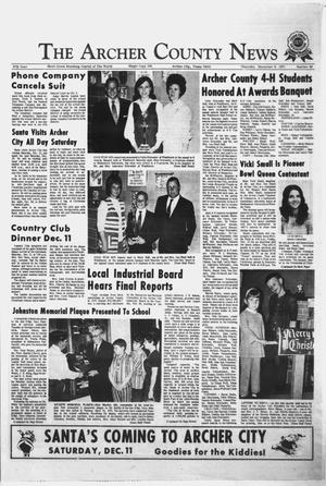 Primary view of object titled 'The Archer County News (Archer City, Tex.), Vol. 57, No. 49, Ed. 1 Thursday, December 9, 1971'.