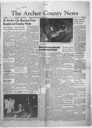 Primary view of object titled 'The Archer County News (Archer City, Tex.), Vol. 41, No. 52, Ed. 1 Thursday, December 15, 1955'.
