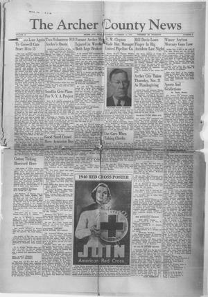 Primary view of object titled 'The Archer County News (Archer City, Tex.), Vol. 30, No. 8, Ed. 1 Thursday, November 14, 1940'.