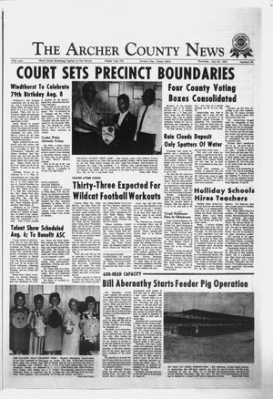 Primary view of object titled 'The Archer County News (Archer City, Tex.), Vol. 57, No. 30, Ed. 1 Thursday, July 29, 1971'.