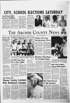 Primary view of object titled 'The Archer County News (Archer City, Tex.), Vol. 55, No. 13, Ed. 1 Thursday, March 30, 1972'.