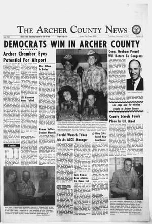 Primary view of object titled 'The Archer County News (Archer City, Tex.), Vol. 54, No. 45, Ed. 1 Thursday, November 7, 1968'.