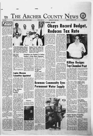 Primary view of object titled 'The Archer County News (Archer City, Tex.), Vol. 57, No. 32, Ed. 1 Thursday, August 15, 1974'.