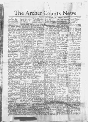 Primary view of object titled 'The Archer County News (Archer City, Tex.), Vol. 29, No. 2, Ed. 1 Thursday, November 23, 1939'.