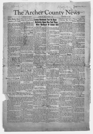 Primary view of object titled 'The Archer County News (Archer City, Tex.), Vol. 20, No. 23, Ed. 1 Friday, December 19, 1930'.