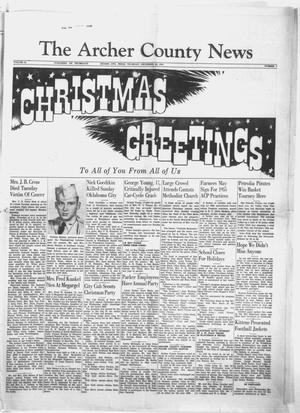 Primary view of object titled 'The Archer County News (Archer City, Tex.), Vol. 41, No. 1, Ed. 1 Thursday, December 23, 1954'.