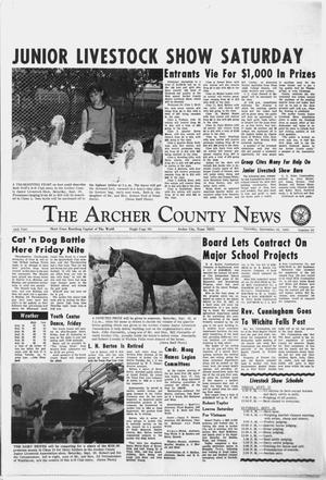 Primary view of object titled 'The Archer County News (Archer City, Tex.), Vol. 54, No. 39, Ed. 1 Thursday, September 26, 1968'.