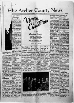 Primary view of object titled 'The Archer County News (Archer City, Tex.), Vol. 40, No. 1, Ed. 1 Thursday, December 24, 1953'.