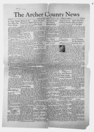 Primary view of The Archer County News (Archer City, Tex.), Vol. 29, No. 16, Ed. 1 Thursday, January 11, 1940