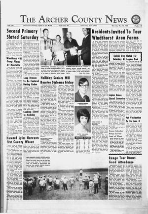 Primary view of object titled 'The Archer County News (Archer City, Tex.), Vol. 53, No. 22, Ed. 1 Thursday, May 30, 1968'.