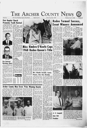 Primary view of object titled 'The Archer County News (Archer City, Tex.), Vol. 53, No. 26, Ed. 1 Thursday, June 27, 1968'.