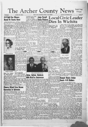 Primary view of object titled 'The Archer County News (Archer City, Tex.), Vol. 47, No. 52, Ed. 1 Thursday, November 30, 1961'.