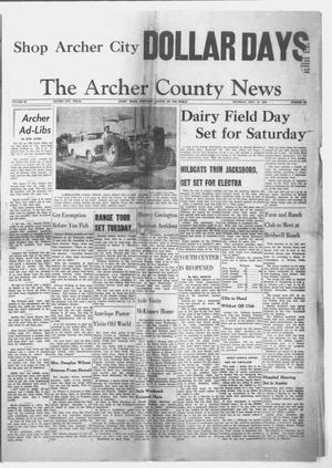 Primary view of object titled 'The Archer County News (Archer City, Tex.), Vol. 45, No. 39, Ed. 1 Thursday, September 10, 1959'.