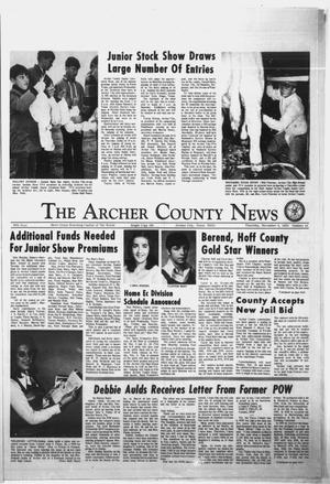 Primary view of object titled 'The Archer County News (Archer City, Tex.), Vol. 56, No. 45, Ed. 1 Thursday, November 8, 1973'.
