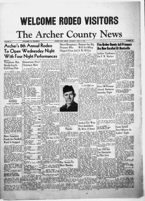 Primary view of object titled 'The Archer County News (Archer City, Tex.), Vol. 38, No. 26, Ed. 1 Thursday, June 19, 1952'.