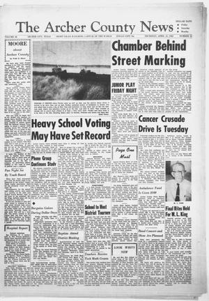 Primary view of object titled 'The Archer County News (Archer City, Tex.), Vol. 48, No. 15, Ed. 1 Thursday, April 12, 1962'.