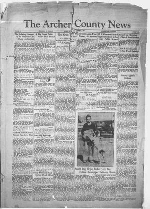 Primary view of object titled 'The Archer County News (Archer City, Tex.), Vol. 20, No. 34, Ed. 1 Friday, March 6, 1931'.