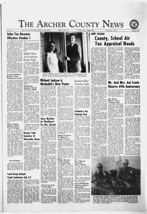 Primary view of object titled 'The Archer County News (Archer City, Tex.), Vol. 56, No. 28, Ed. 1 Thursday, July 9, 1970'.
