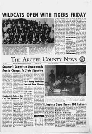 Primary view of object titled 'The Archer County News (Archer City, Tex.), Vol. 54, No. 37, Ed. 1 Thursday, September 12, 1968'.