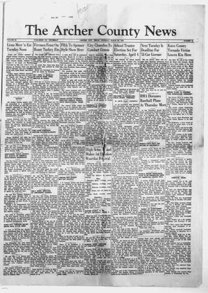 Primary view of object titled 'The Archer County News (Archer City, Tex.), Vol. 39, No. 14, Ed. 1 Thursday, March 26, 1953'.