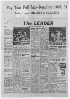 Primary view of object titled 'The Leader (Archer City, Tex.), Vol. 1, No. 21, Ed. 1 Friday, January 21, 1955'.