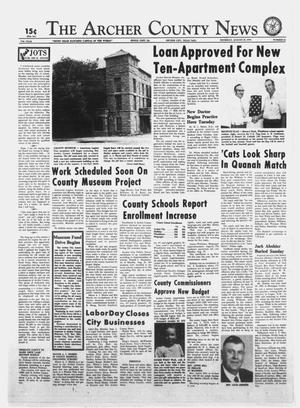 Primary view of object titled 'The Archer County News (Archer City, Tex.), Vol. 57TH YEAR, No. 34, Ed. 1 Thursday, August 29, 1974'.