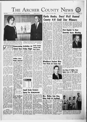 Primary view of object titled 'The Archer County News (Archer City, Tex.), Vol. 53, No. 42, Ed. 1 Thursday, October 19, 1967'.