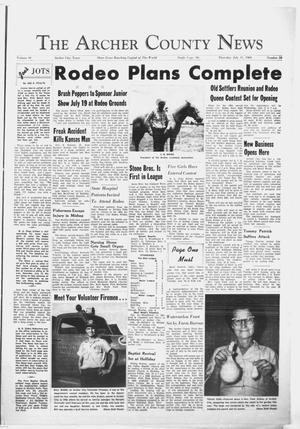 Primary view of object titled 'The Archer County News (Archer City, Tex.), Vol. 49, No. 28, Ed. 1 Thursday, July 11, 1963'.