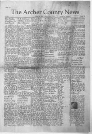 Primary view of object titled 'The Archer County News (Archer City, Tex.), Vol. 29, No. 36, Ed. 1 Thursday, May 30, 1940'.