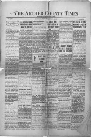 Primary view of object titled 'The Archer County Times (Archer City, Tex.), Vol. 18, No. 20, Ed. 1 Thursday, November 19, 1942'.