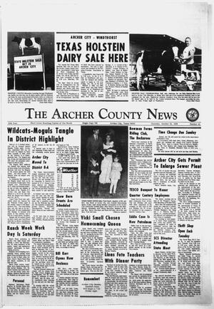 Primary view of object titled 'The Archer County News (Archer City, Tex.), Vol. 55, No. 41, Ed. 1 Thursday, October 23, 1969'.
