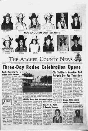 Primary view of object titled 'The Archer County News (Archer City, Tex.), Vol. 55, No. 23, Ed. 1 Thursday, June 8, 1972'.