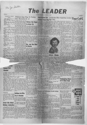 Primary view of object titled 'The Leader (Archer City, Tex.), Vol. 1, No. 11, Ed. 1 Friday, November 12, 1954'.