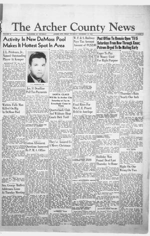Primary view of object titled 'The Archer County News (Archer City, Tex.), Vol. 35, No. 51, Ed. 1 Thursday, December 15, 1949'.