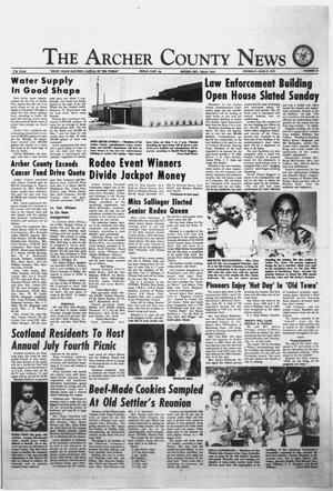 Primary view of object titled 'The Archer County News (Archer City, Tex.), Vol. 57, No. 25, Ed. 1 Thursday, June 27, 1974'.