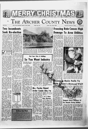 Primary view of object titled 'The Archer County News (Archer City, Tex.), Vol. 53, No. 51, Ed. 1 Thursday, December 21, 1967'.