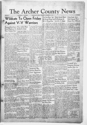 Primary view of object titled 'The Archer County News (Archer City, Tex.), Vol. 34, No. 39, Ed. 1 Thursday, September 23, 1948'.